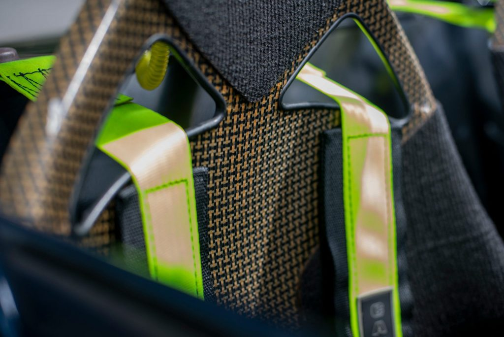 Caterham 7 JPE carbon fiber seat detail weave