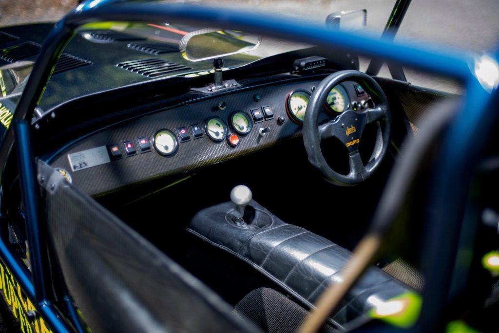 Caterham 7 JPE cockpit steering wheel interior dash