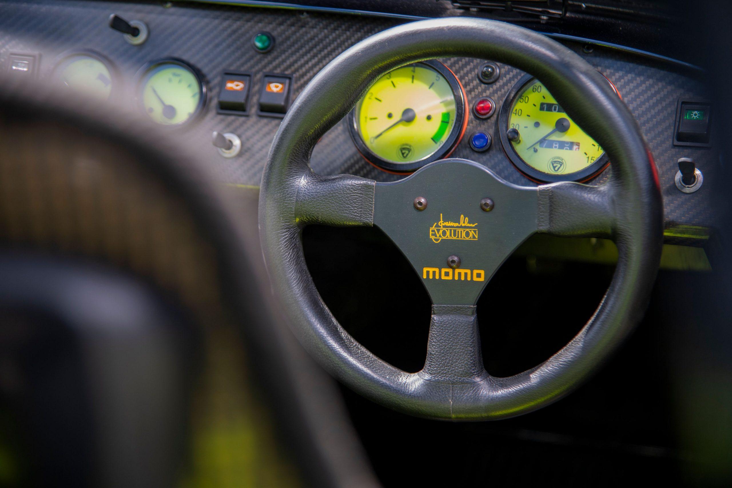 Caterham 7 JPE Momo steering wheel dash