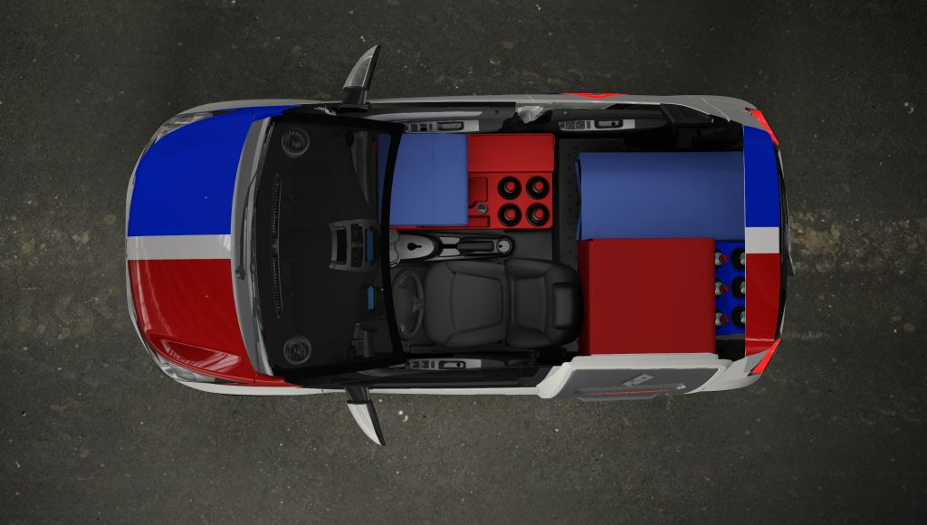 Domino's DXP interior overhead cutaway