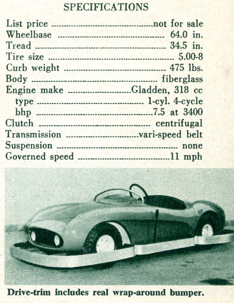 Disneyland Autopia - Specs from Road and Track