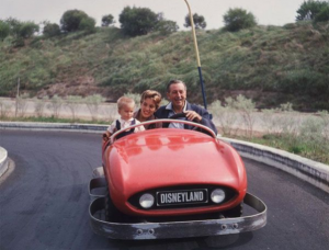 Disneyland Autopia - Walt Disney on the track