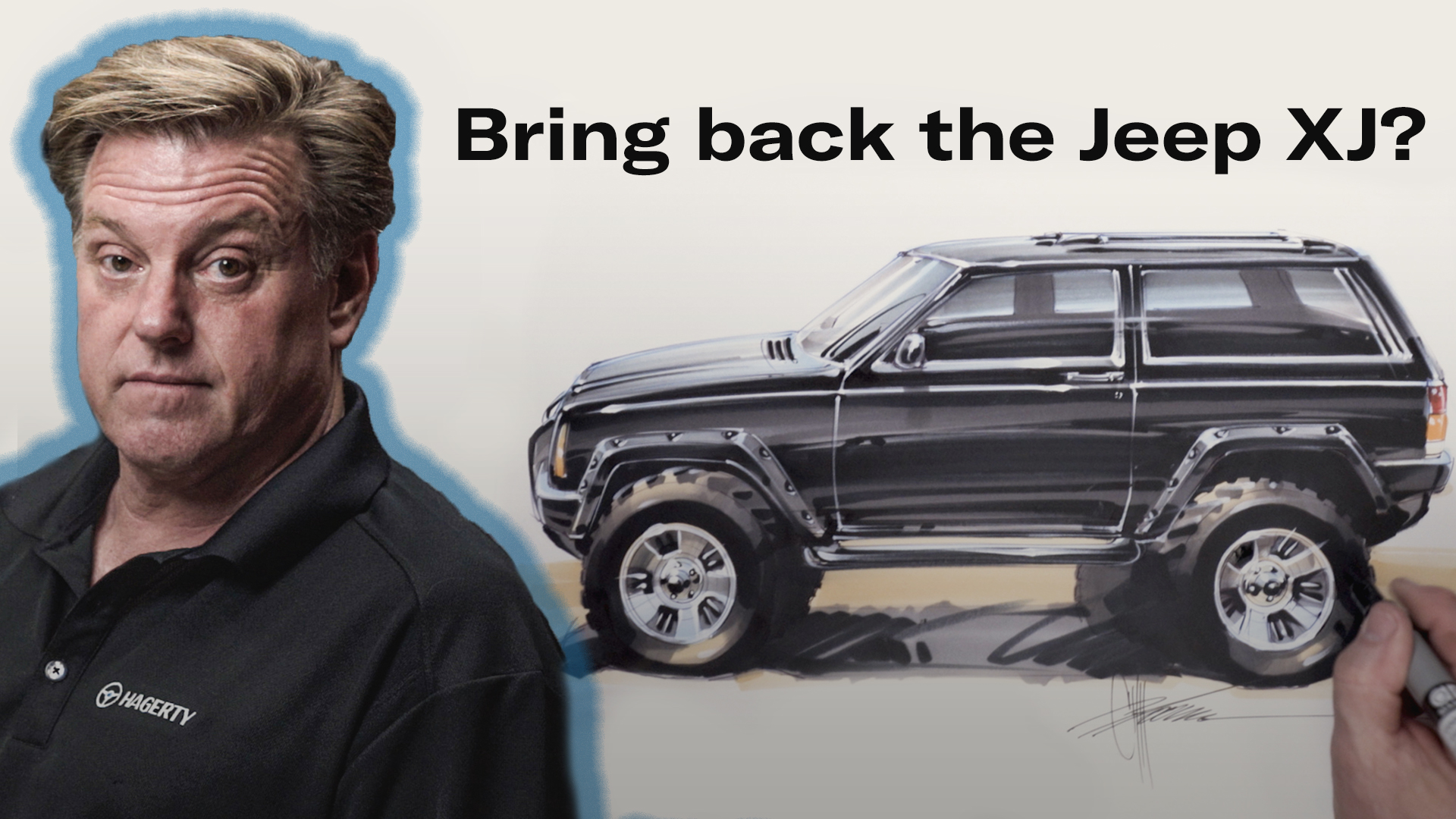 Chip Foose draws Jeep Cherokee XJ