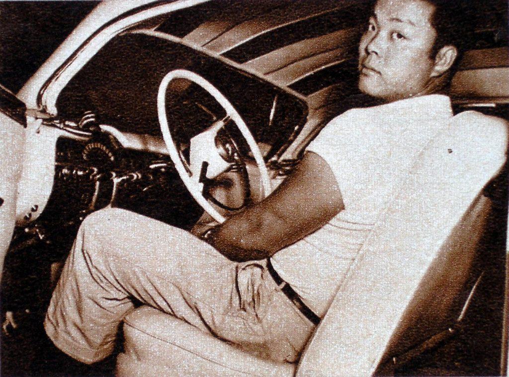 HVA - Hirohata Merc - Bob Hirohata sitting in drivers seat