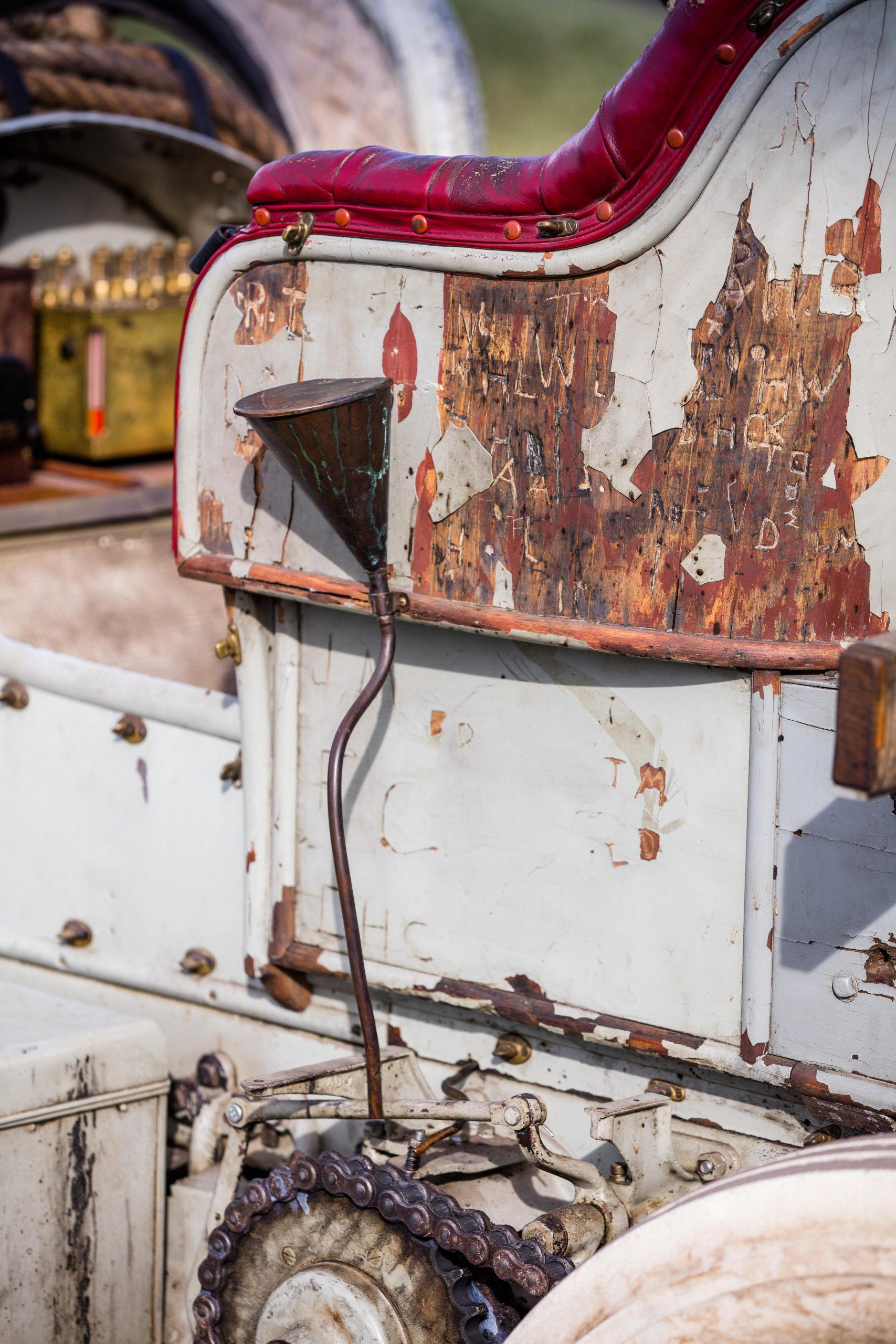 HVA Thomas Flyer - closeup drivers side oil funnel