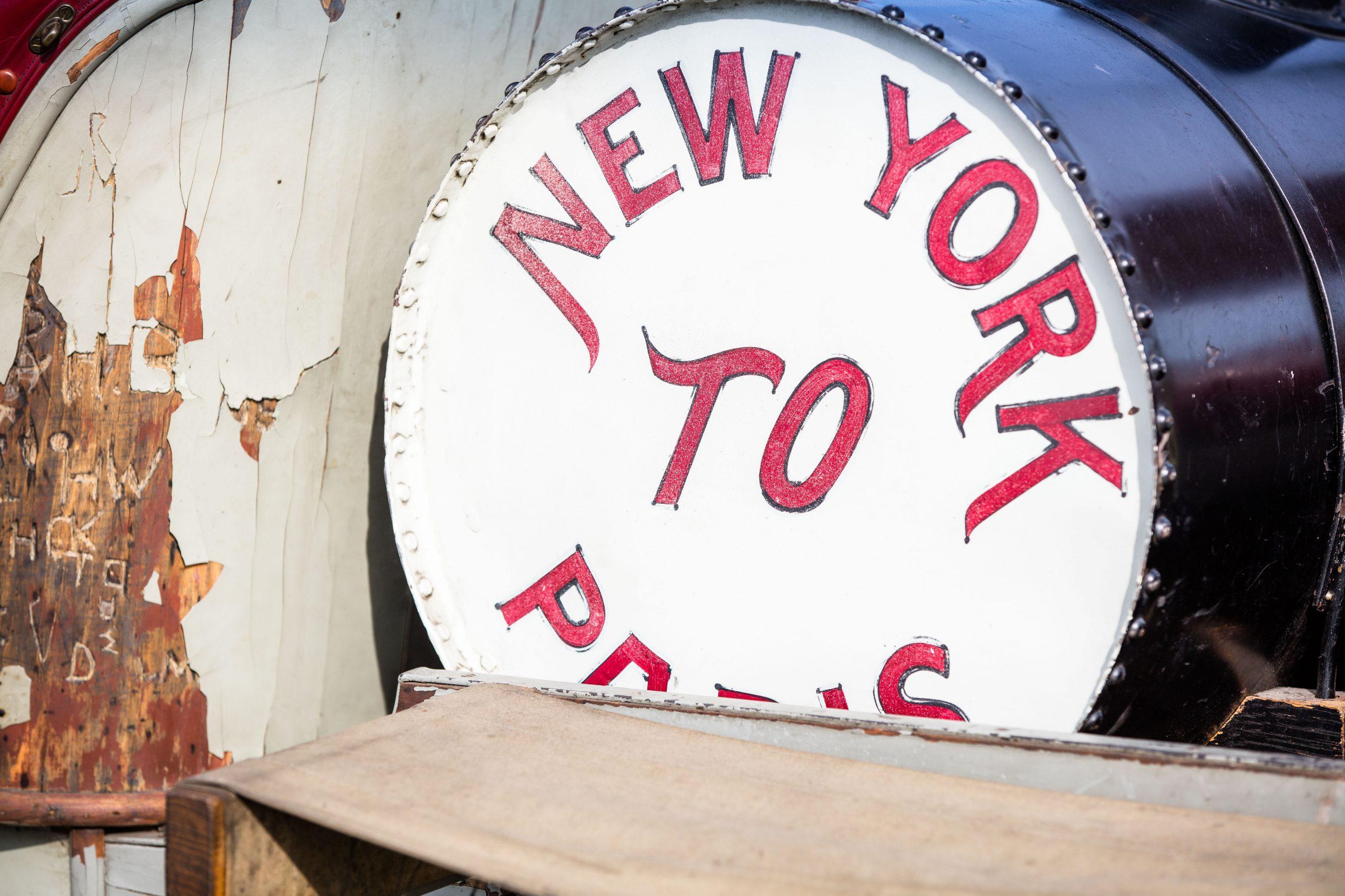 HVA Thomas Flyer - closeup gas tank New York to Paris