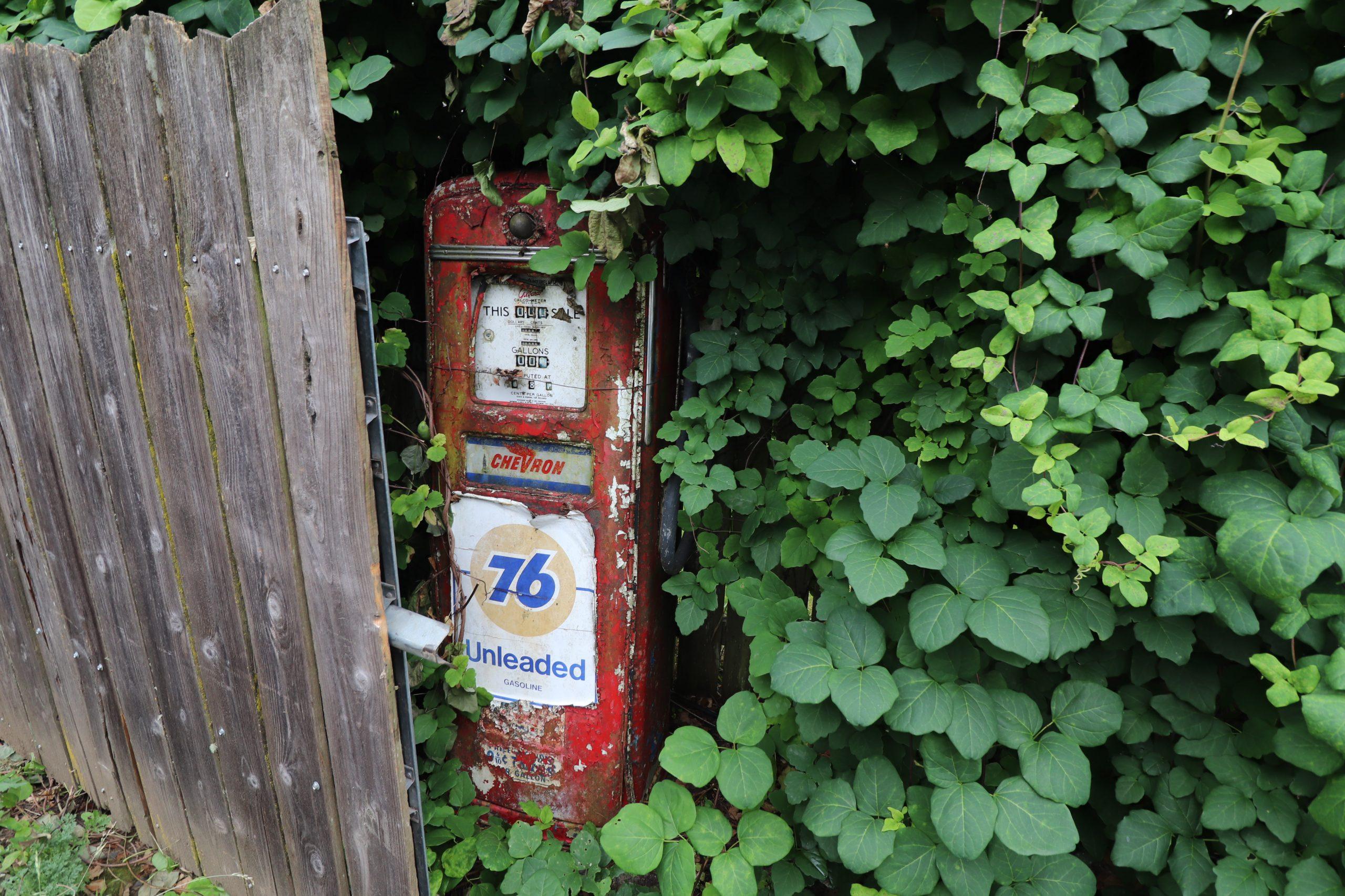 old vintage gas pump