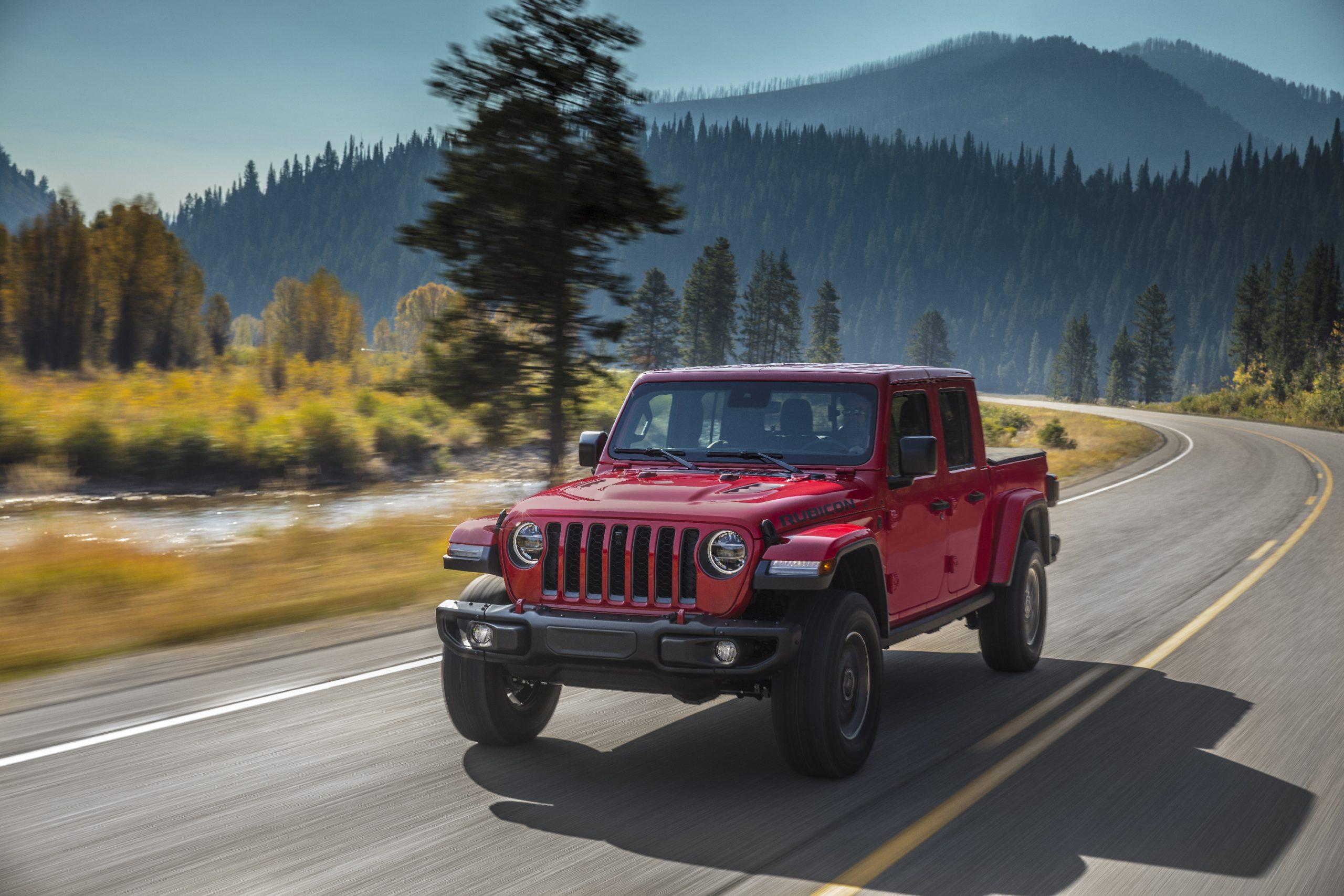 2020 Jeep® Gladiator Rubicon Front Three-Quarter