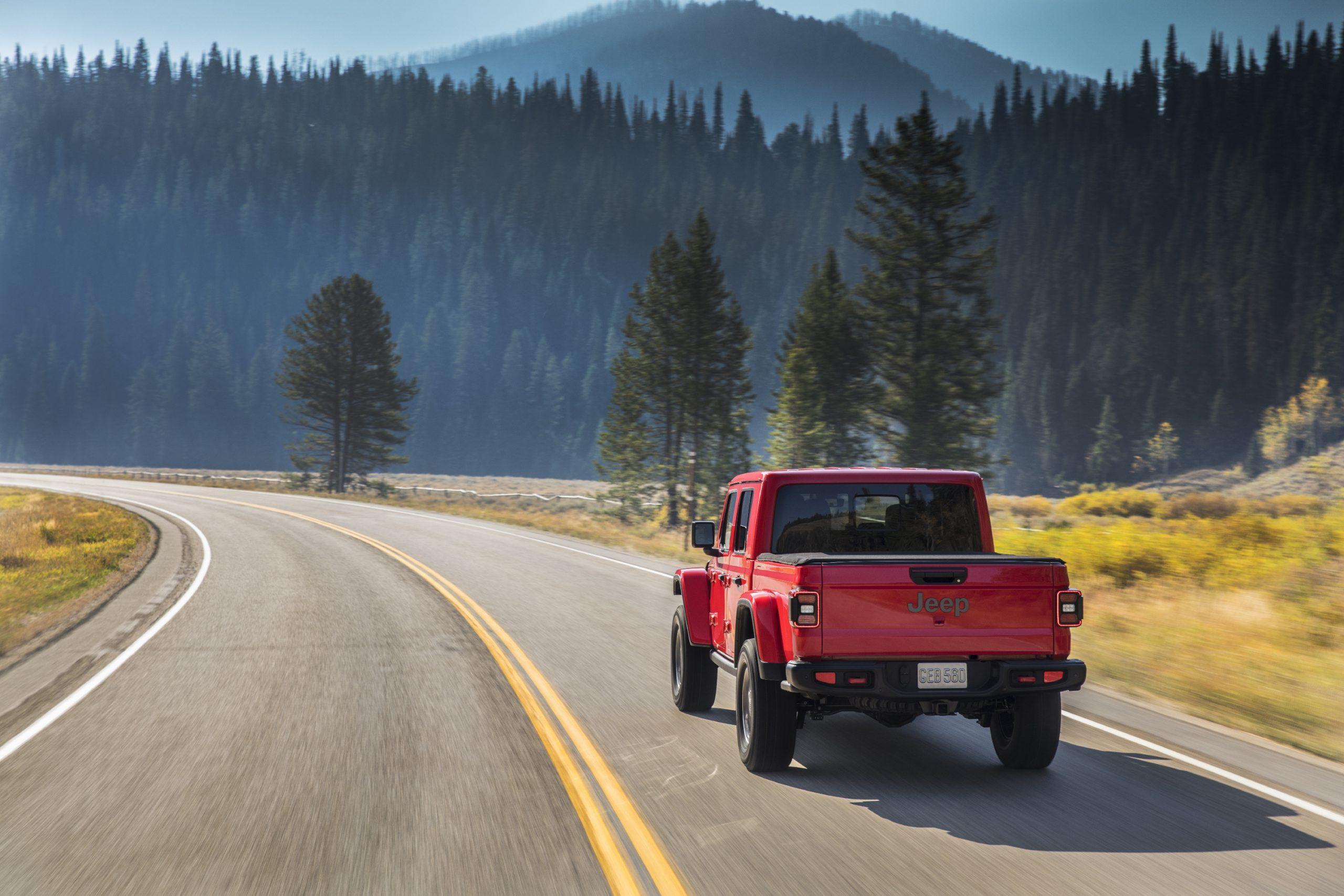 2020 Jeep® Gladiator Rubicon Rear Three-Quarter
