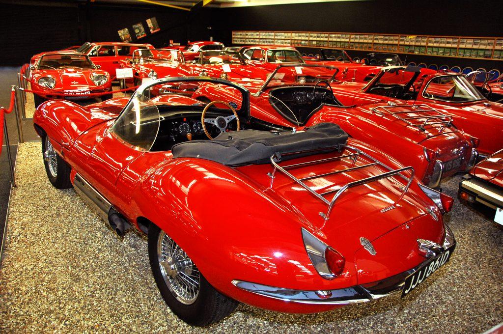 Red Room Jaguar XKSS Replica rear three-quarter