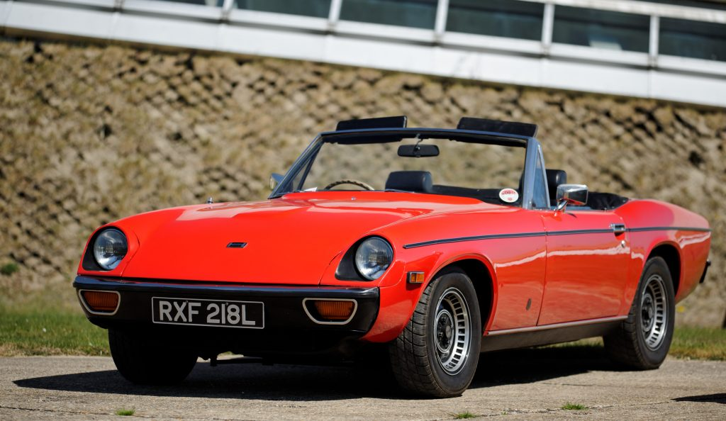 Red Jensen Healey Convertible Roadster front three-quarter