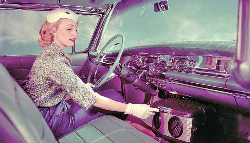 58 Buick with aftermarket AC