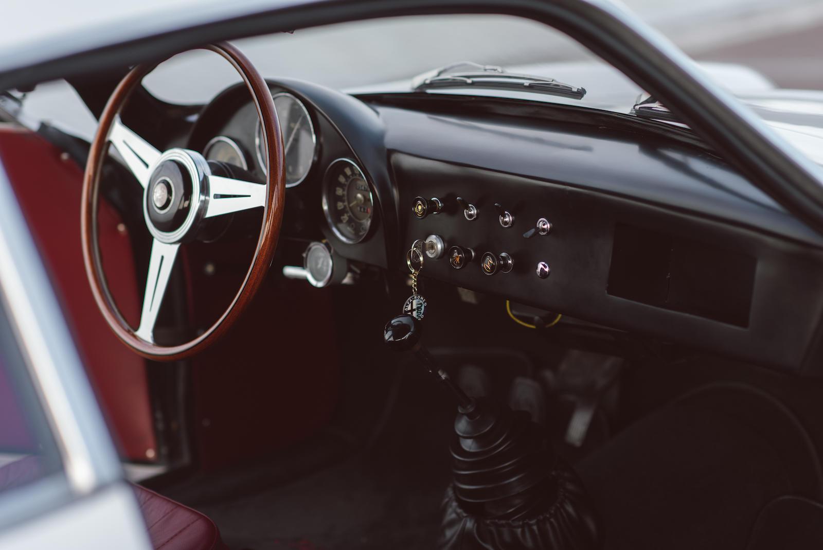 vintage motorsport alfa romeo interior