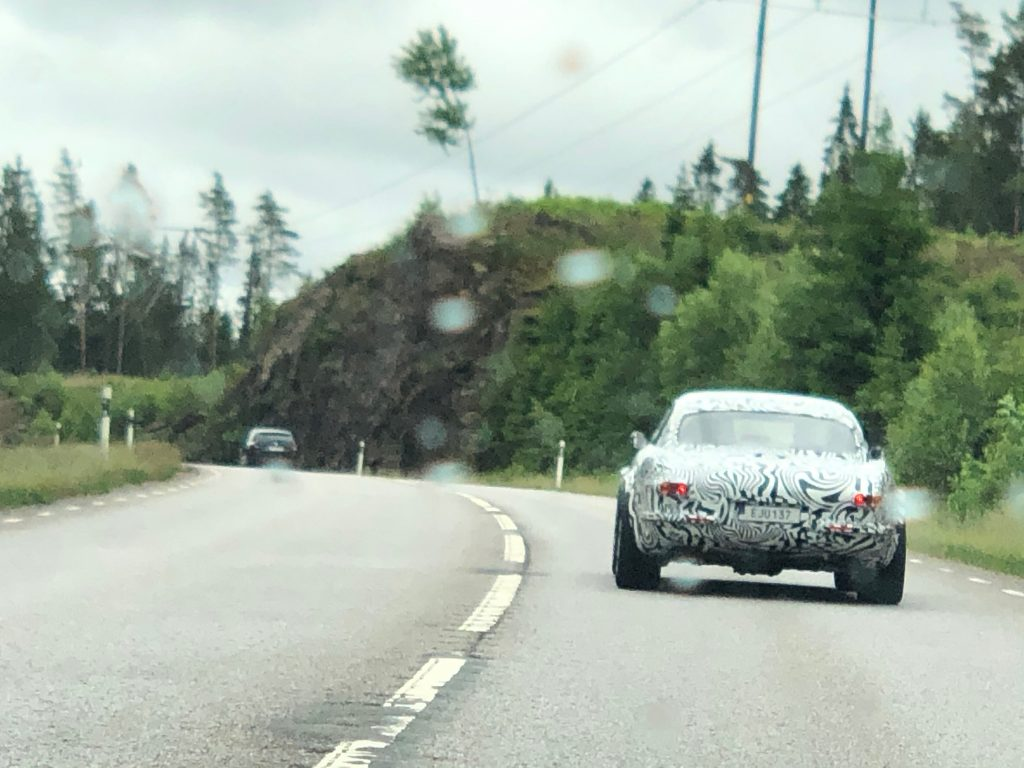 Volvo P1800 electric spy shot 2