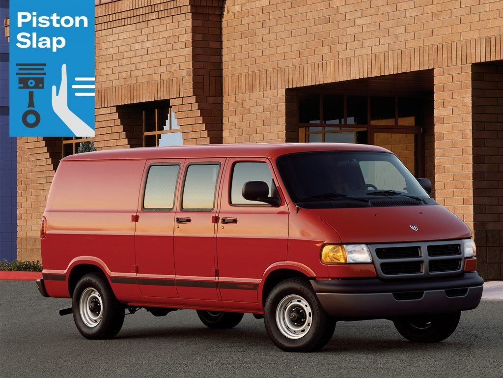 Piston Slap Red Dodge Ram Van