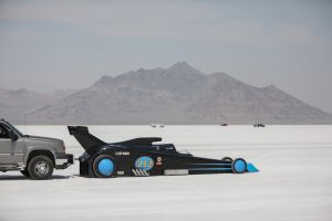 Rear Modified Roadster Bonneville Speed Week salt flat