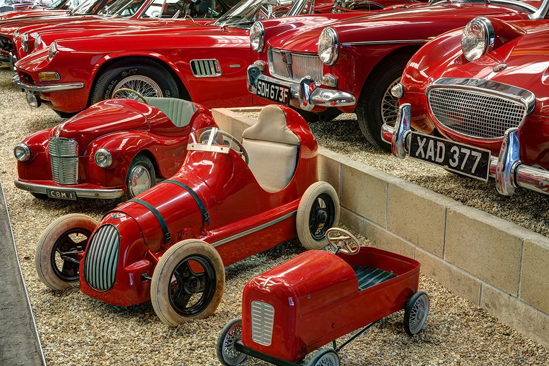 Haynes Museum Red Room Pedal Cars