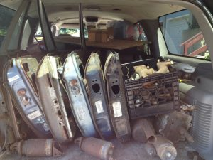 Siegel - Thinning out parts - Doors in the back of the Suburban