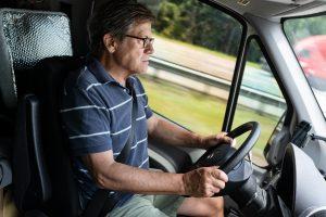 dad drives mercedes-benz sprinter conversion van