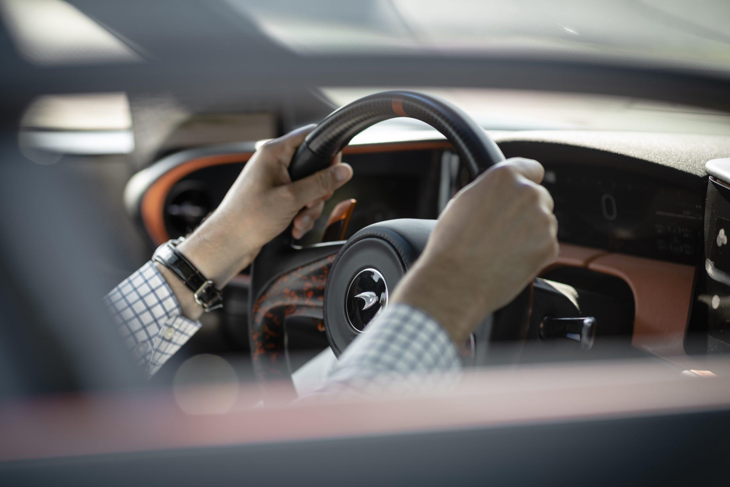 Speedtail PP1 Interior Hands On Wheel