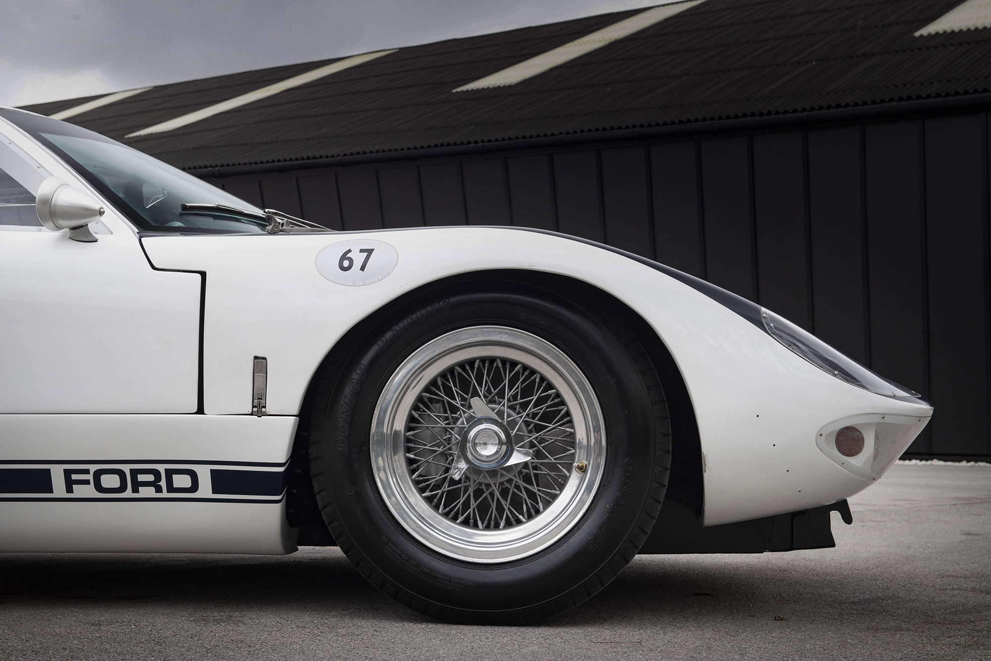 1964 Ford GT40 Prototype GT/105 front profile wire wheel