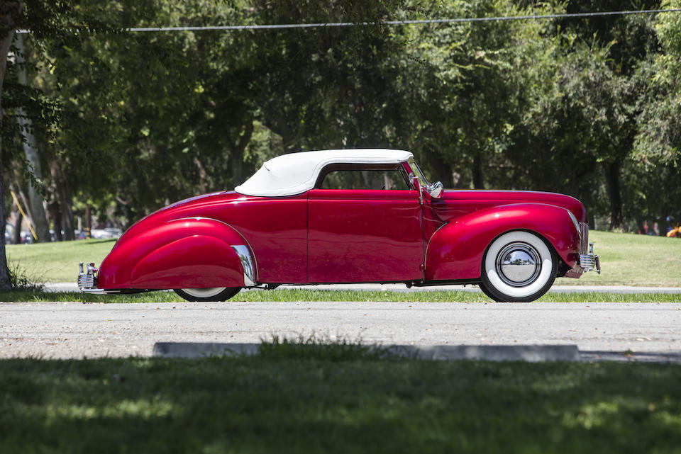 1939 Ford Convertible Coupe Hot Rod retro profile top up whitewalls
