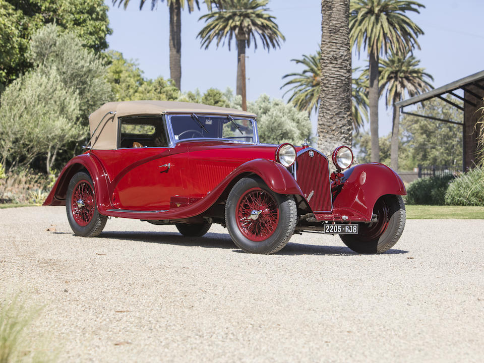 1934 ALFA ROMEO 8C 2300 CABRIOLET DÉCAPOTABLE Coachwork by Figoni