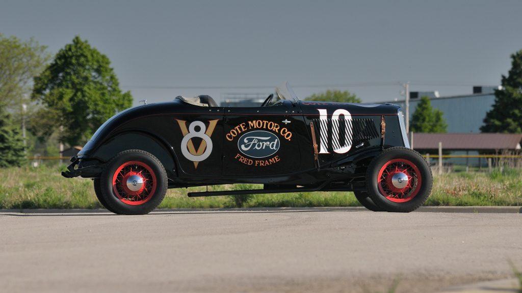 1933 Ford roadster Elgin race profile
