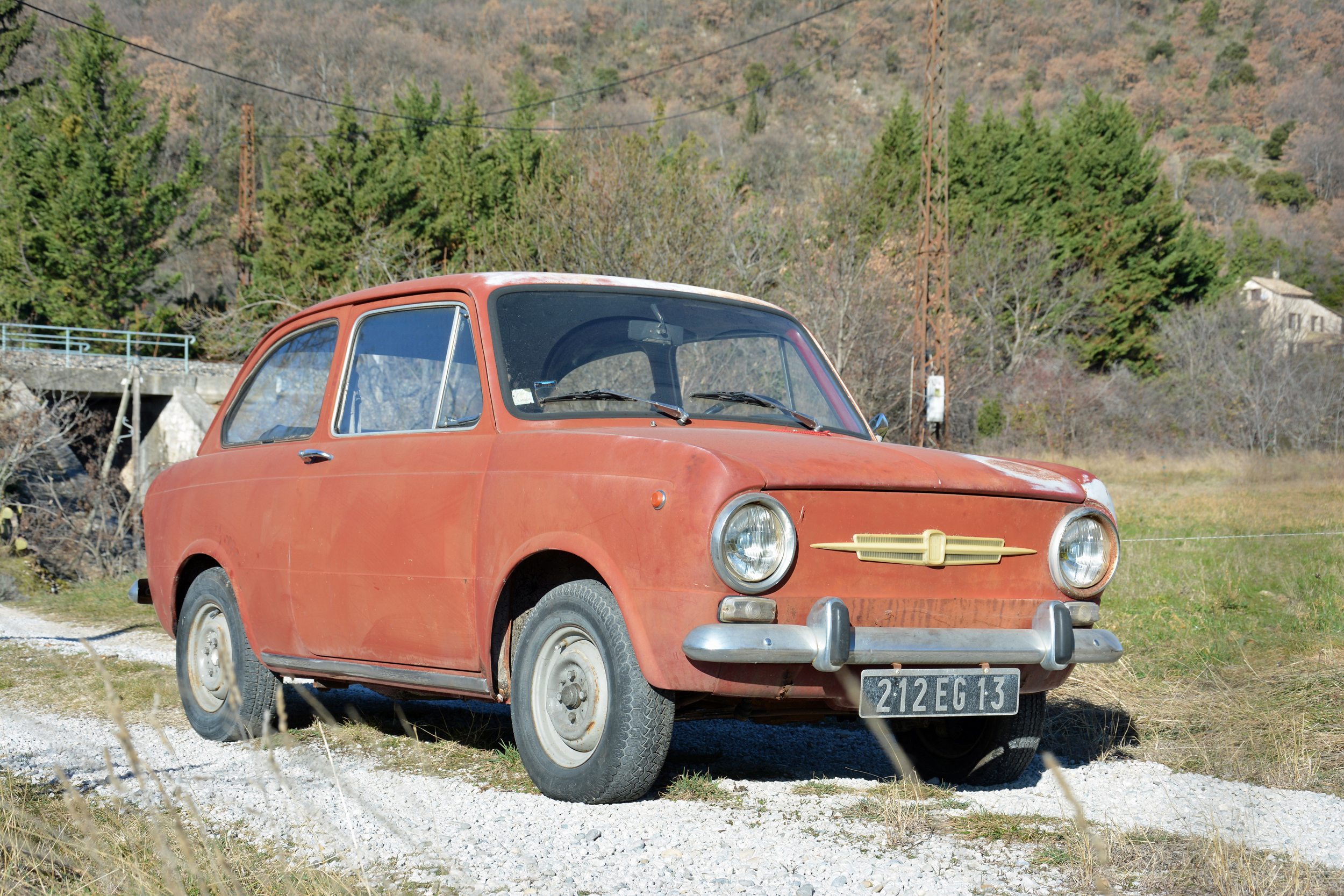 1971 Fiat 850 Front Three-Quarter