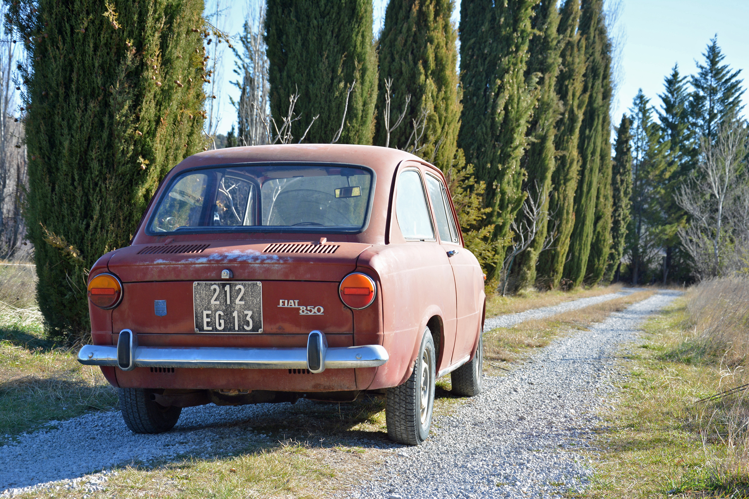 1971 Fiat 850 Rear Three-Quarter