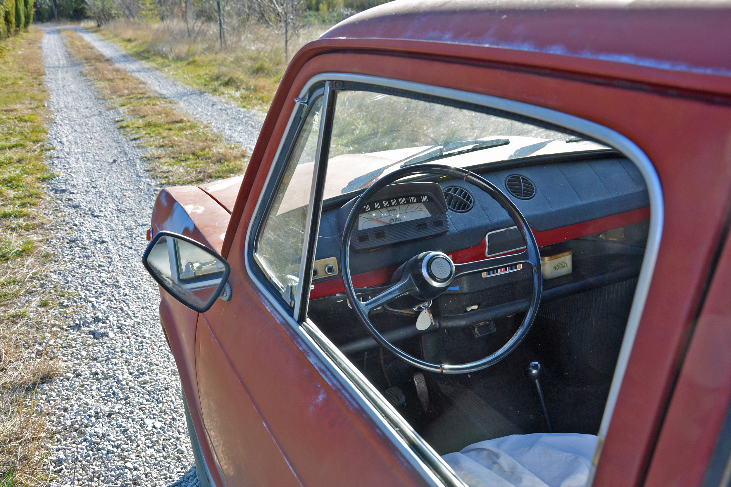 1971 Fiat 850 Interior View Through Window