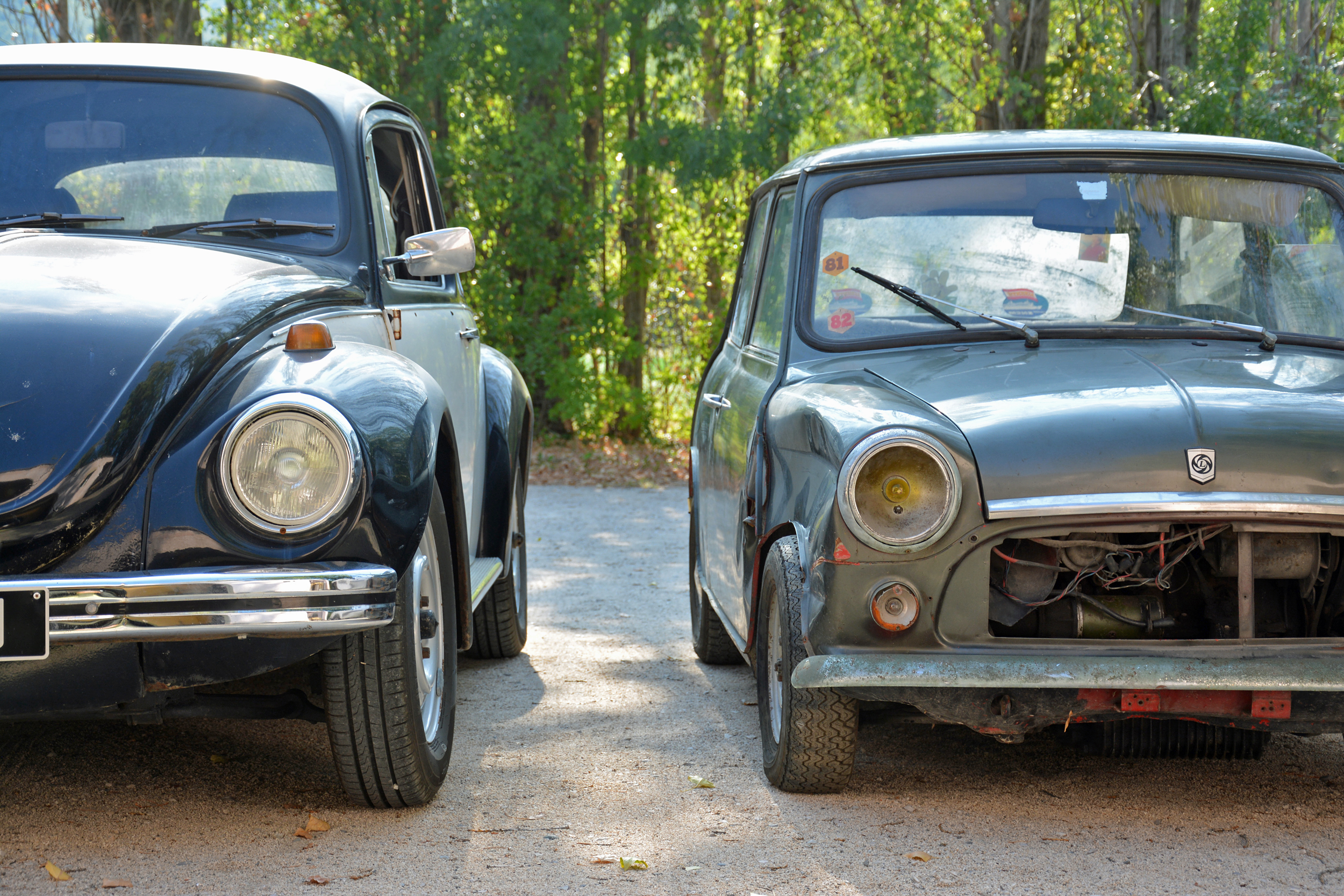 1972 Mini Front with VW Beetle Front
