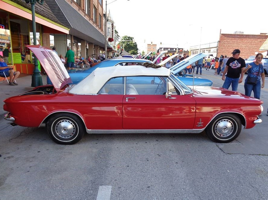 1964 Corvair Spyder convertible side profile