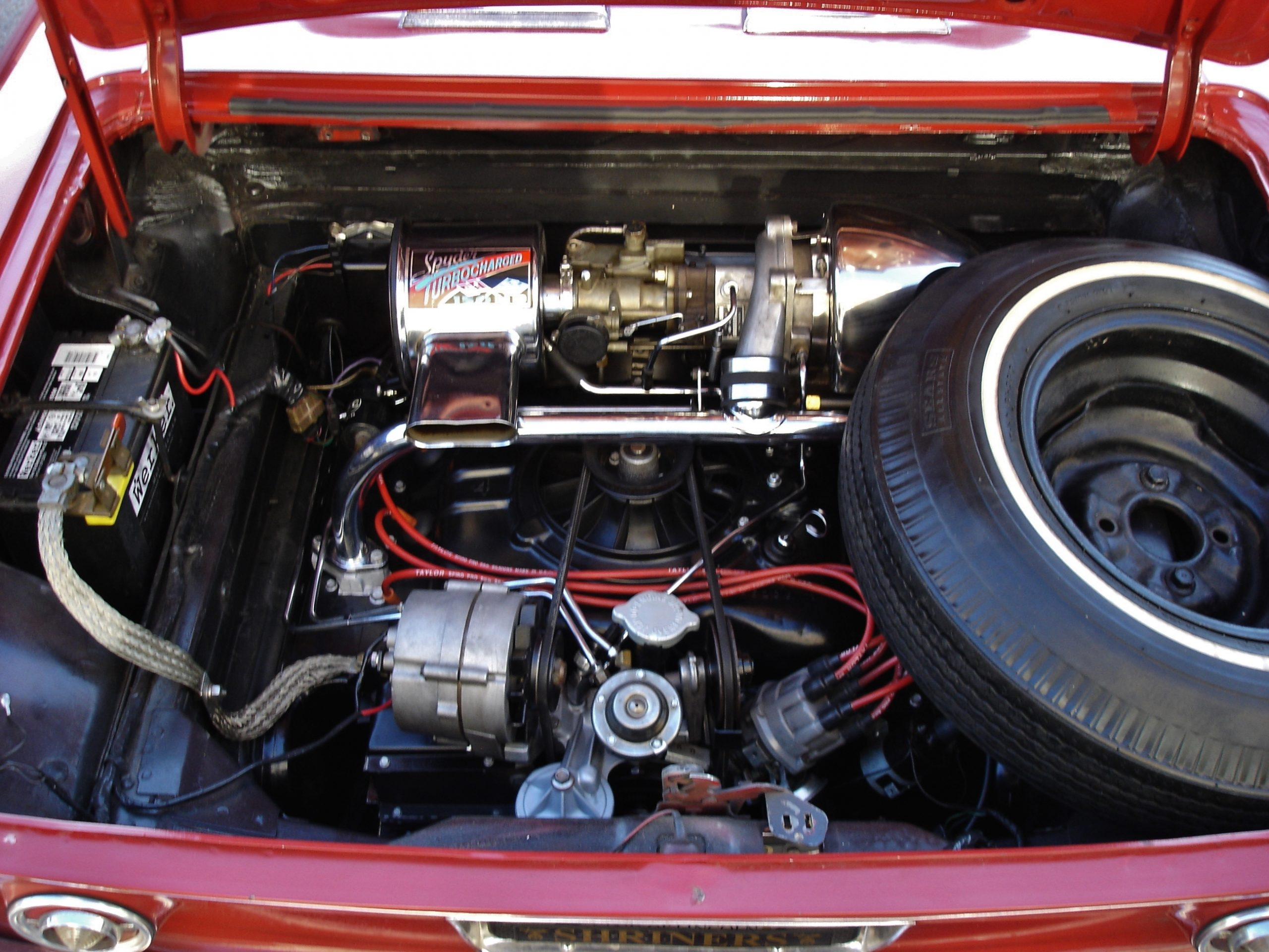 1964 Corvair Spyder convertible engine