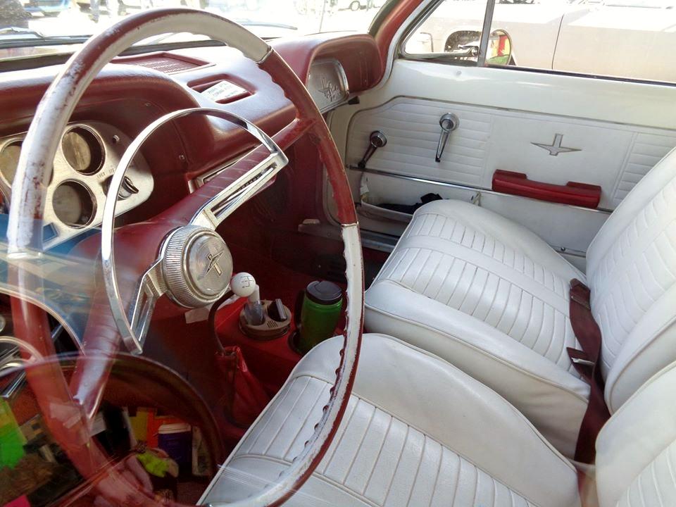 1964 Corvair Spyder convertible interior
