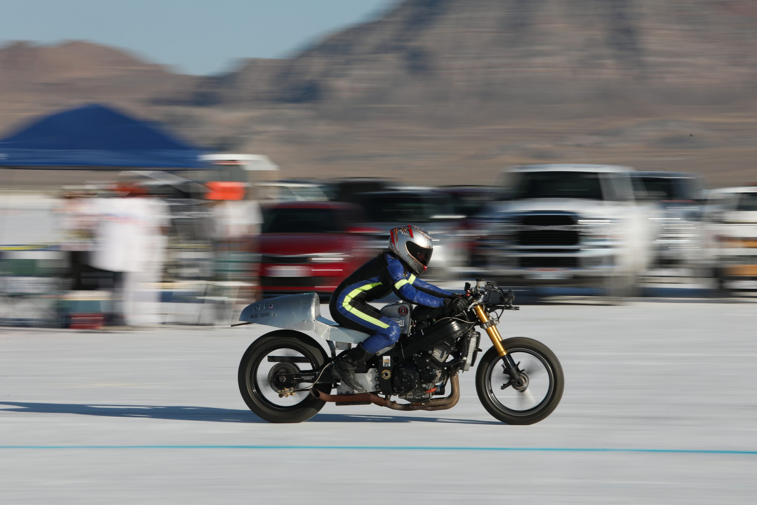 Bonneville Motorcycle starting line 2020