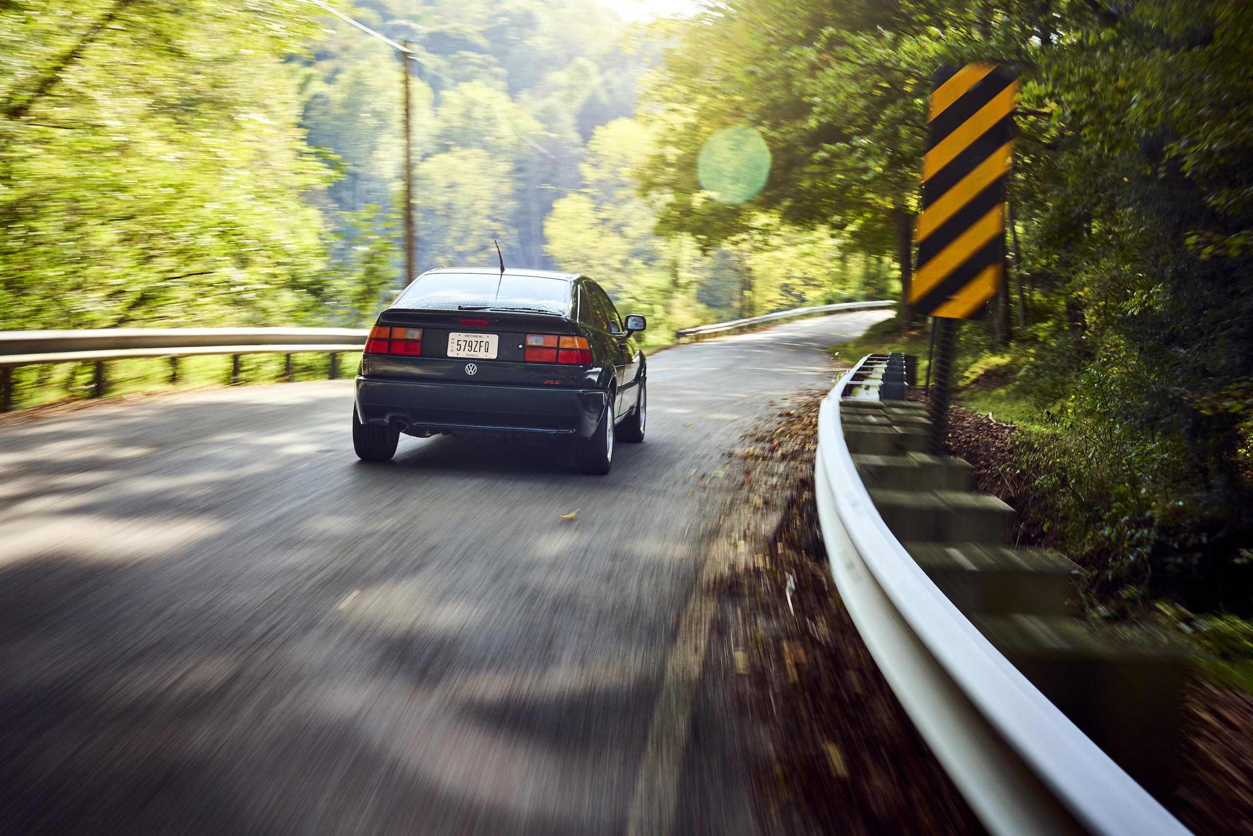 Volkswagen VW Corrado rear dynamic road action