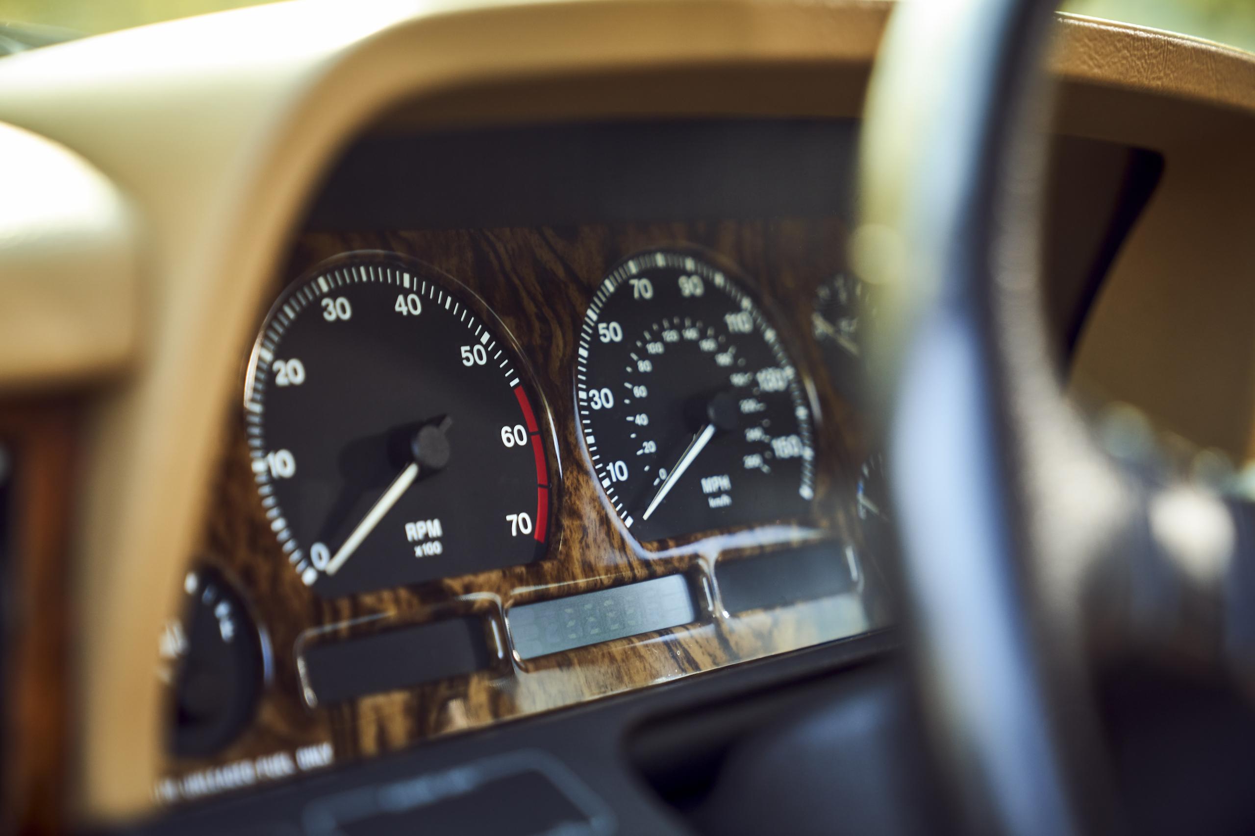 Jaguar XJ6 front dash gauges