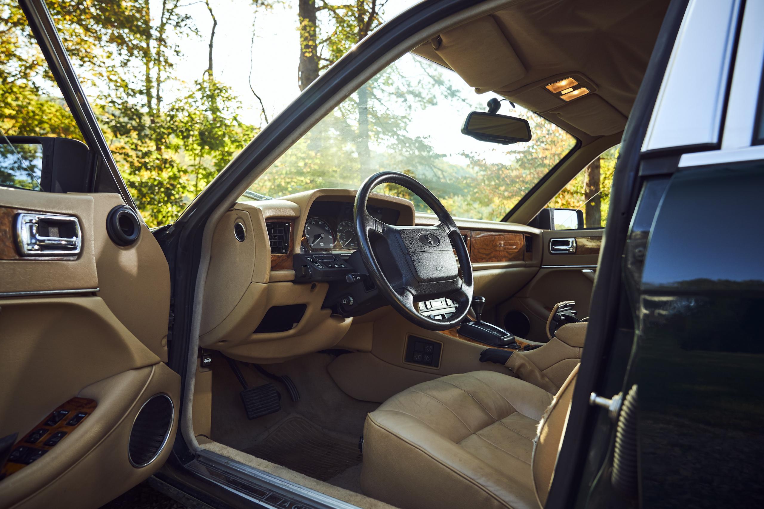 Jaguar XJ6 front angle interior through open door