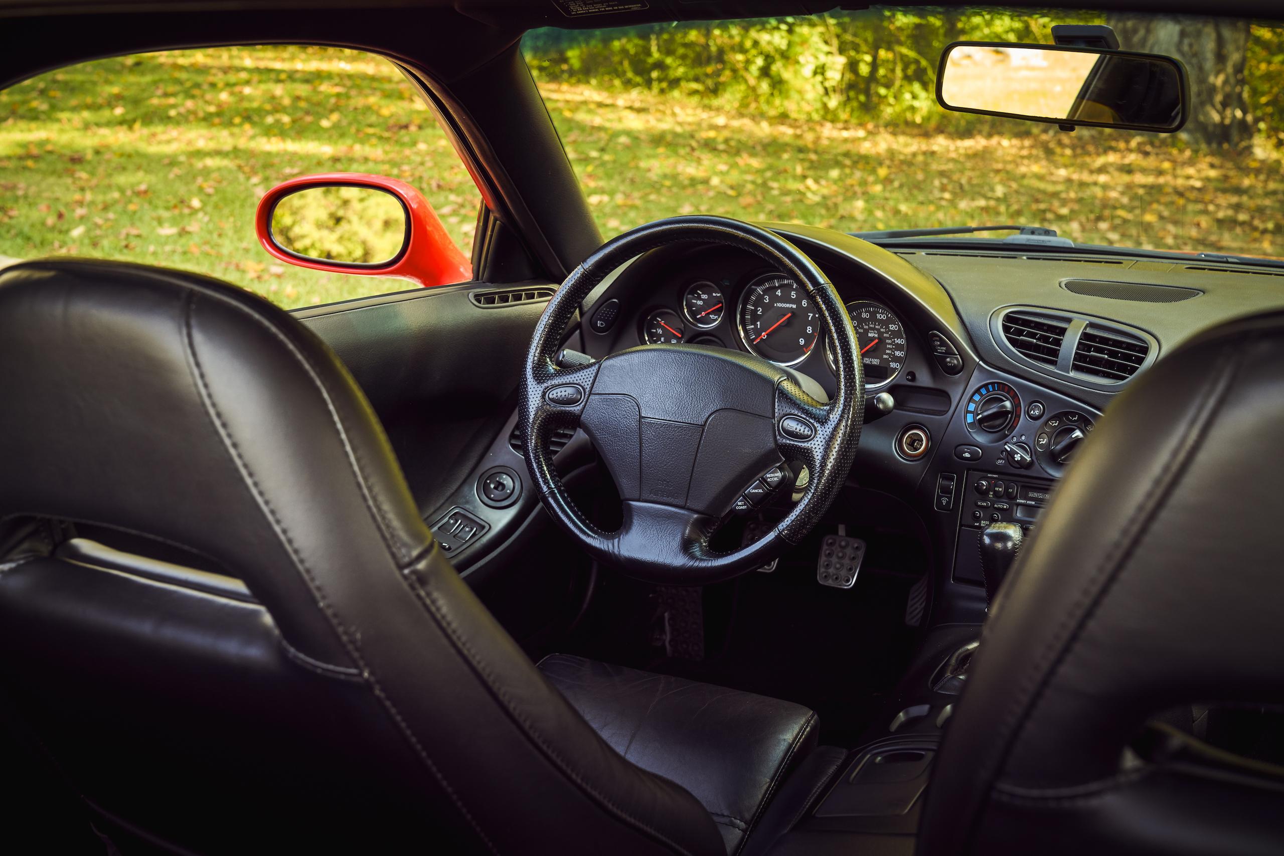 Mazda RX-7 front interior