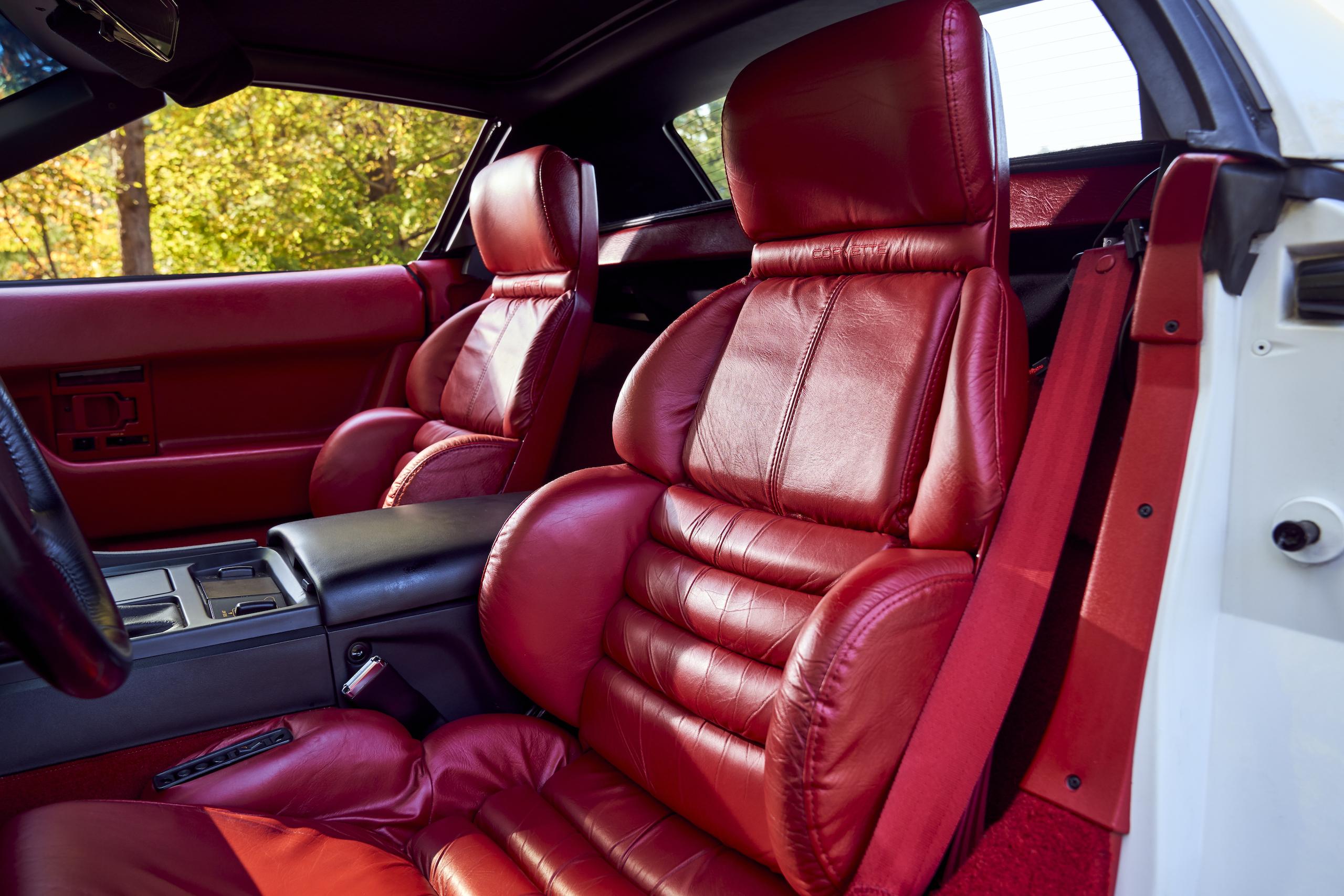 C4 Chevrolet Corvette red leather seats
