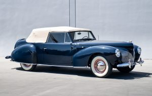 1940 Lincoln-Zephyr Continental Convertible front three-quarter