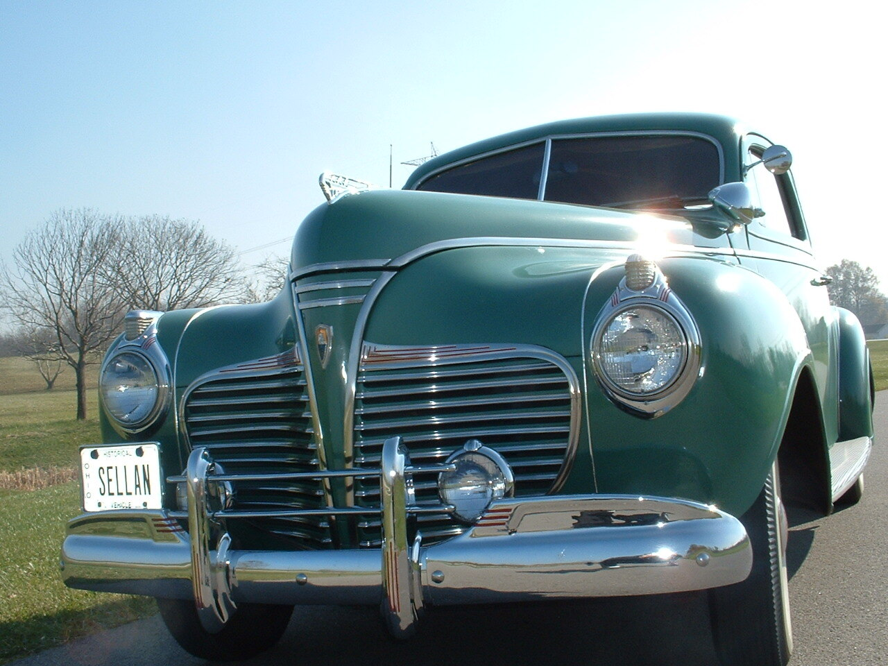 1941 Plymouth Special Deluxe front three-quarter close