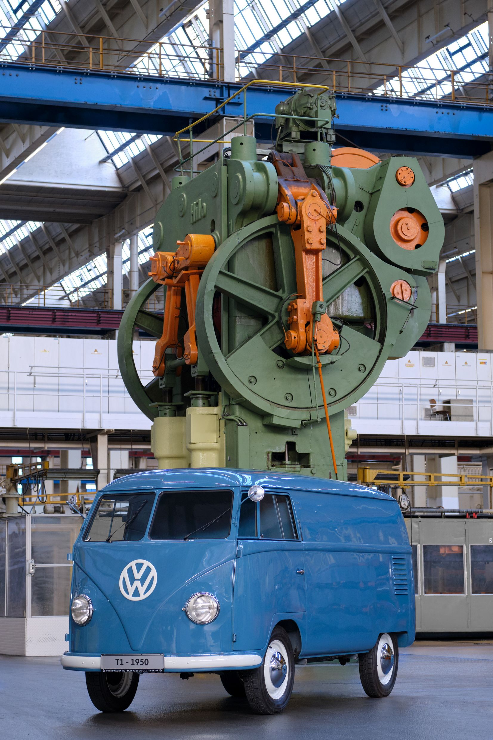 1950 VW T2 - Oldest - Industrial setting