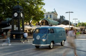1950 VW T2 - Oldest - Full drivers side in pedestrian traffic