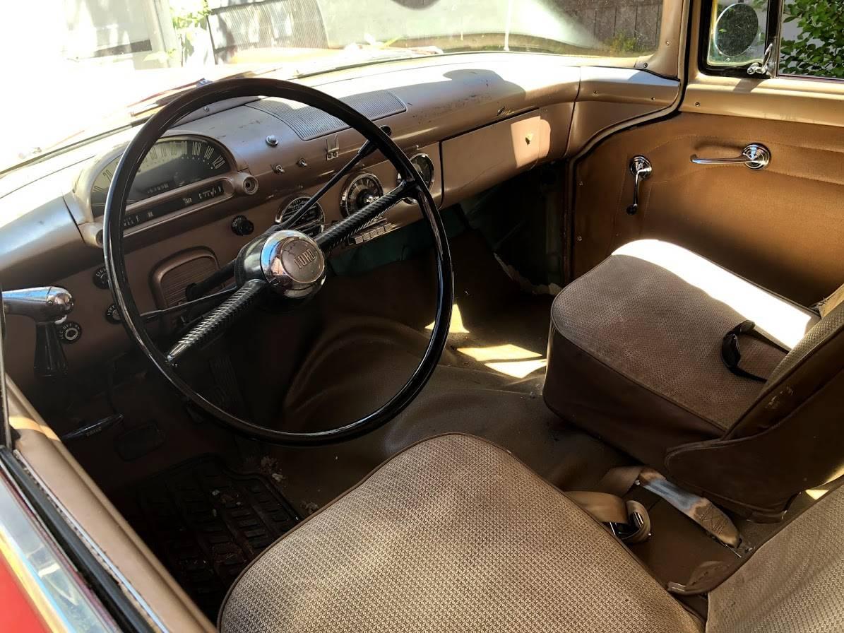 vintage ambulette interior cabin front