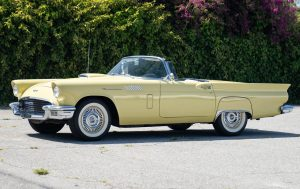 1957 Ford Thunderbird T Bird Yellow front three-quarter