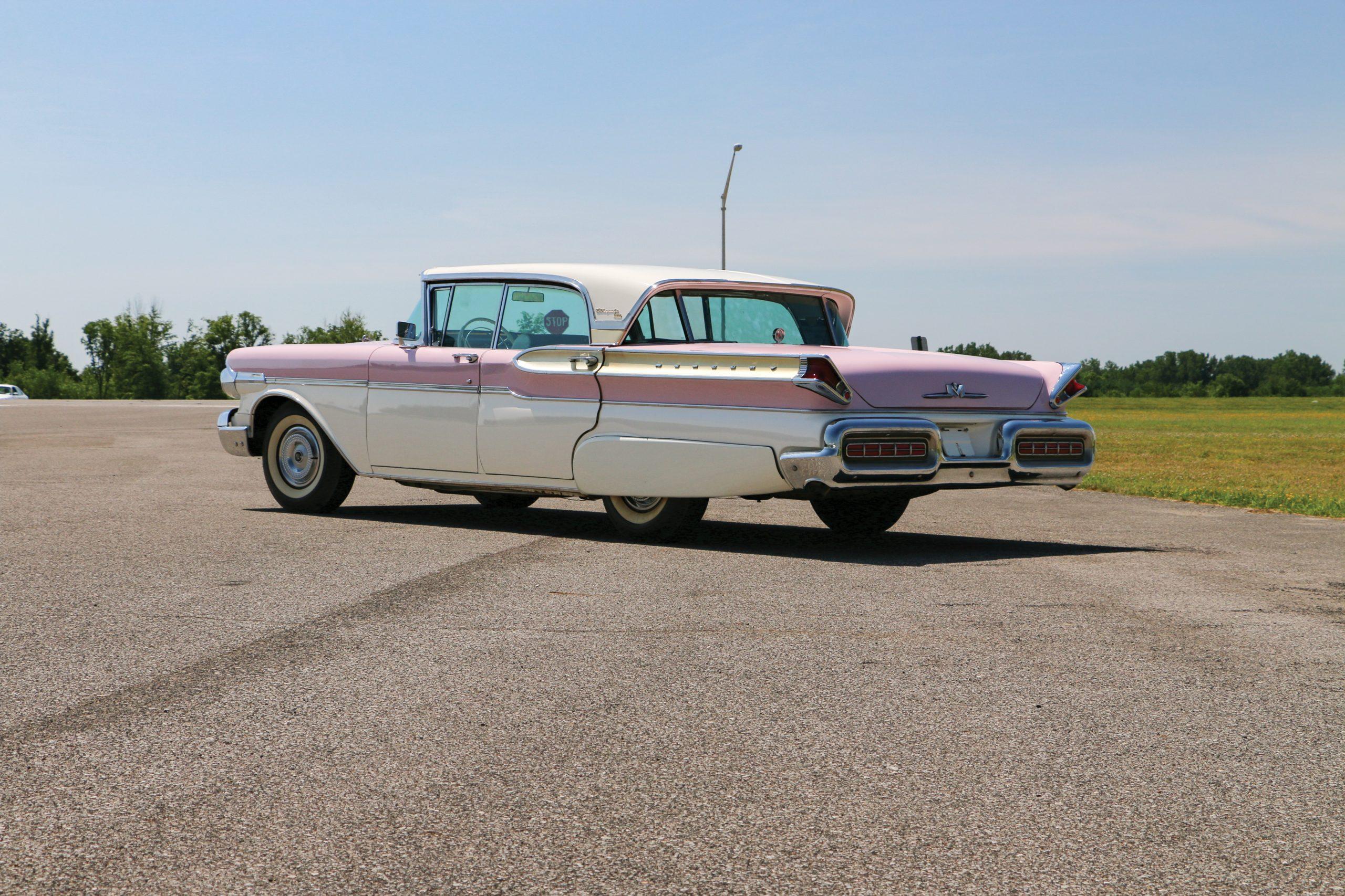 1957-Mercury-Turnpike-Cruiser-Four-Door-Sedan rear three quarter