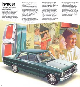 1967 Acadian Invader Vintage Brochure