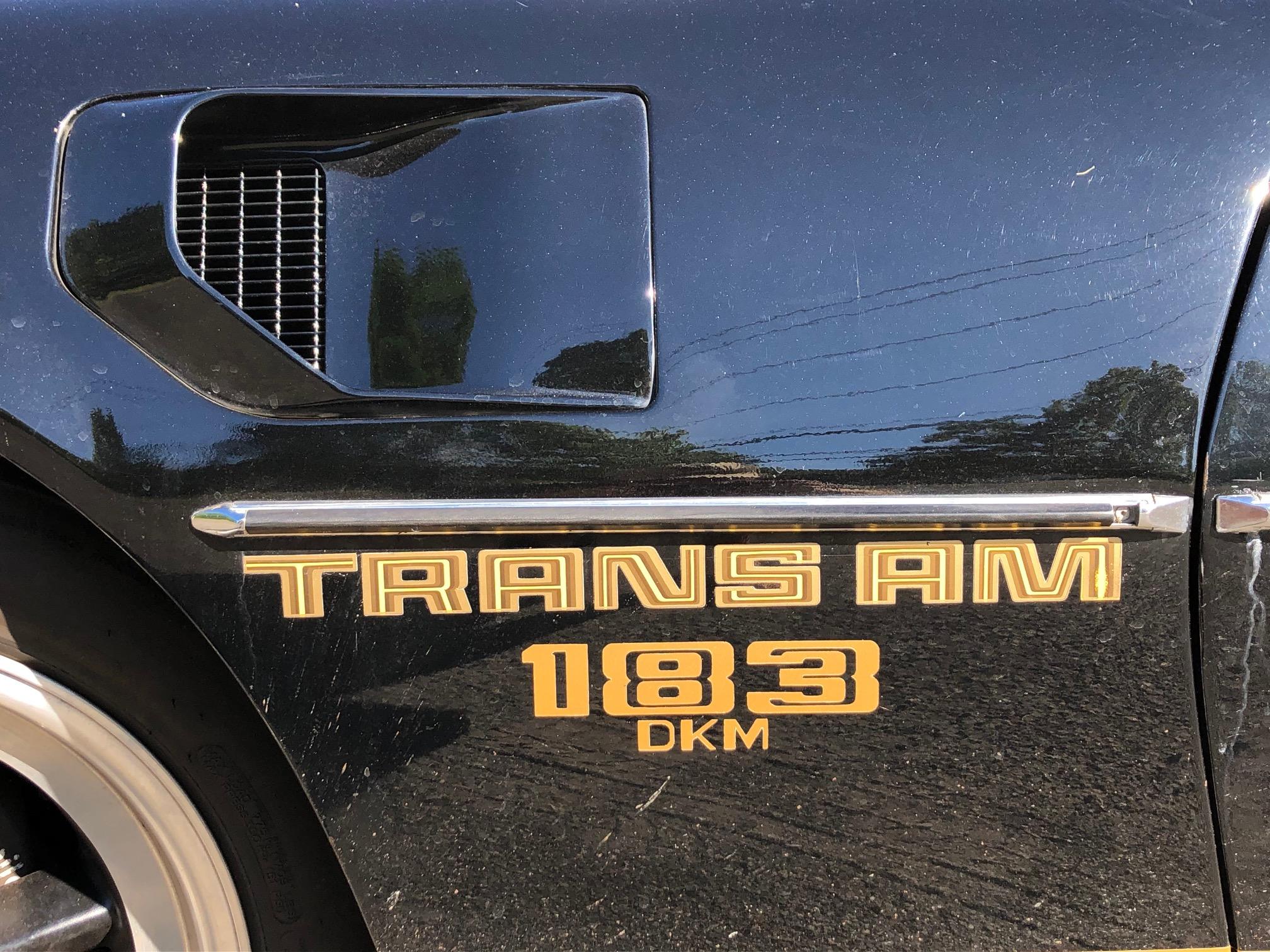 1978 Pontiac DKM Macho Trans Am front quarter panel graphic